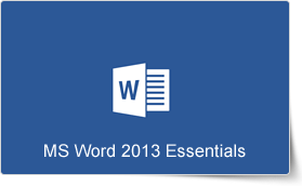 Microsoft Word 2013 Essentials Training Course
